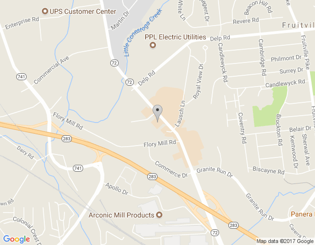 Map of Phillips Office Solutions: Lancaster Office