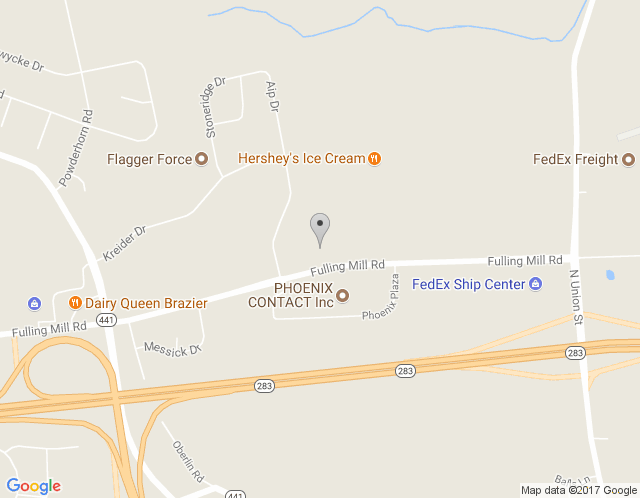 Map of Phillips Office Solutions: Middletown
