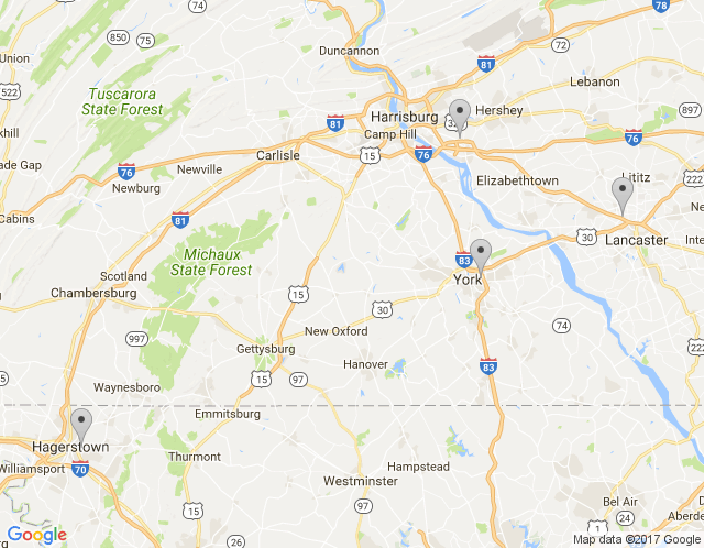 Map of Phillips Office Solutions: Hagerstown Office