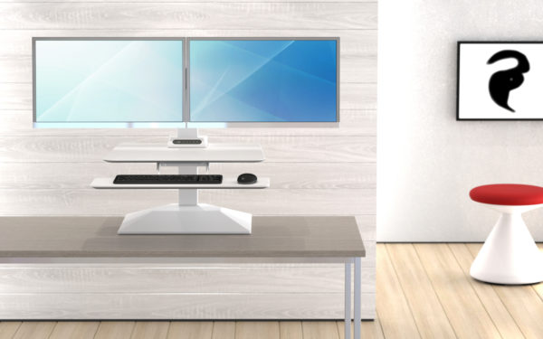 electric height adjustable desktop riser